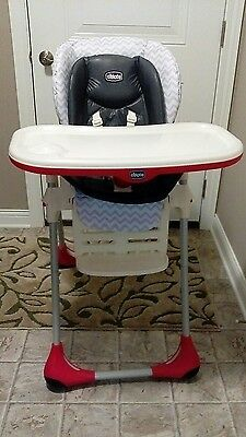 Chicco Polly High Chair w/ Brand New Double Seat Pad EUC
