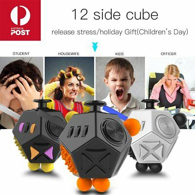 Magic 12-Side Fidget Anti-anxiety Stress Relief Focus Adult Kids Toy Gifts Cube