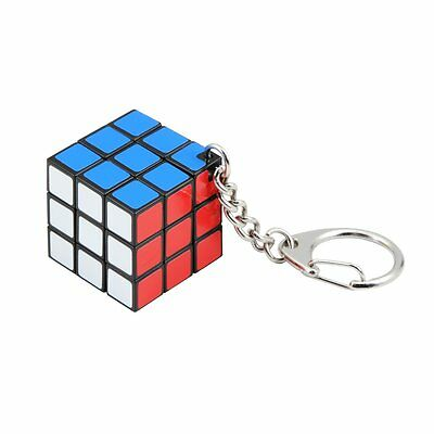 Rubiks Cube 3x3 Puzzle as a Key Ring Logic Game Age 8+ Brainteaser NEW