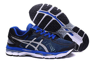 2016 NEW ASICS GEL-KAYANO 22 Men's Running Trainers Sneakers Shoes black/blue