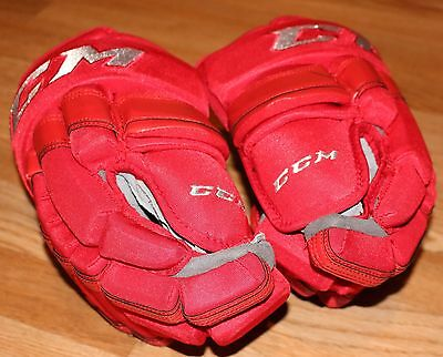 Luke Glendening Detroit Red Wings Game Worn Centennial Classic Gloves PhotoMatch