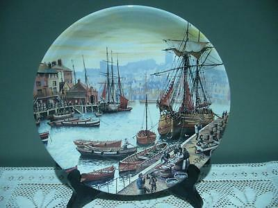 Poole Pottery England Sailing Ships Display / Cabinet Plate For Bradex - Vgc