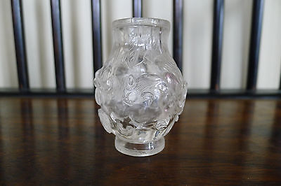 Very rare old Chinese Qianlong period carved rock crystal vase