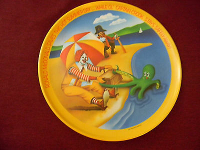 McDonald's collectible 1977 vintage plate RONALD &  OL' CAPTAIN CROOK SUMMER DAY