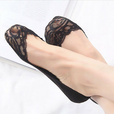 Ladies Frilly Fishnet Short Invisible Girls Mesh Ankle Socks  Lace Cotton