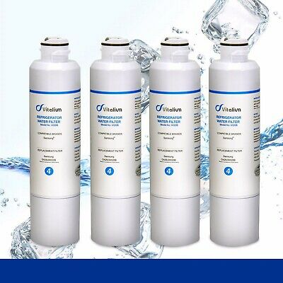4 X Samsung DA29-00020B Premium Compatible Ice & Water Fridge Filter SRF680CDLS