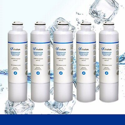 5 X Samsung DA29-00020B Premium Compatible Ice & Water Fridge Filter SRF680CDLS