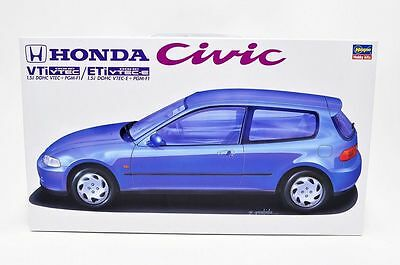 Hasegawa CD10 1/24 Honda Civic VTi/ETi 1.5 DOHC VTEC-E+PGM-F1 from Japan Rare