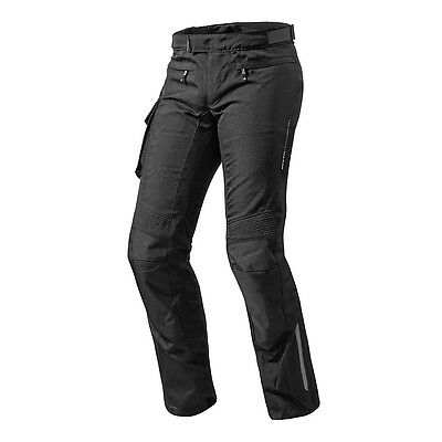 Rev'it! Enterprise 2 Textile Motorcycle Moto Pants Trousers Black Rev it Revit
