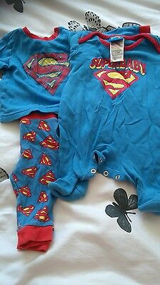 Boy's0-3 month's super baby pj's and grow