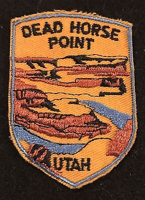 DEAD HORSE POINT Vtg Patch Moab UTAH State Souvenir Travel VOYAGER Embroidered