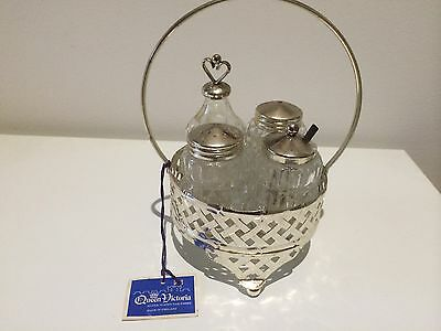 Original Antique Stunning Vintage Silver Plate Crewit Set-High Tea-New With Tags