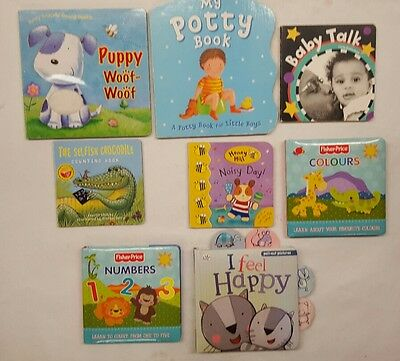 baby books 8 book bundle pull out touchy feely (b)