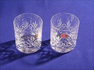 Royal Albert - A Pair of Crystal Victoria Whisky Glasses