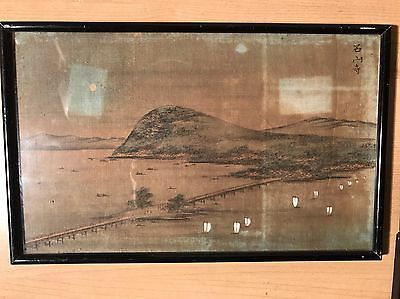 Oriental Asian Japanese Antique Print Picture