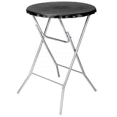 Round Black Folding Bistro Table Garden Patio Foldable Bar Breakfast BBQ Dining