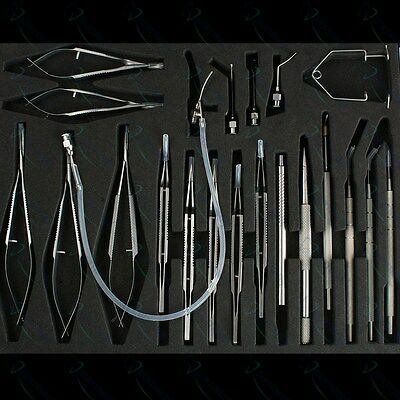 Ophthalmic Cataract Eye Micro Surgery Surgical Instruments 21 Pcs Kit