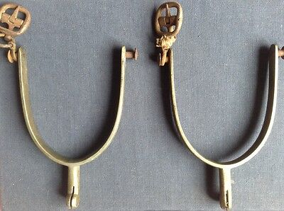 A Pair Of  Vintage Brass Spurs.