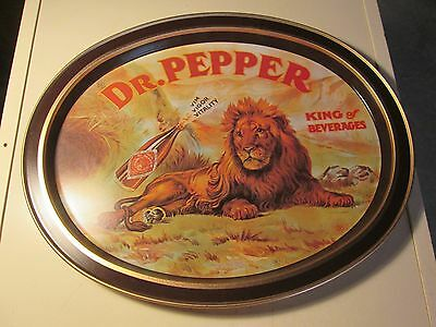 Vintage Dr. Pepper Drink Tray Serving Tray Tin Reproduction