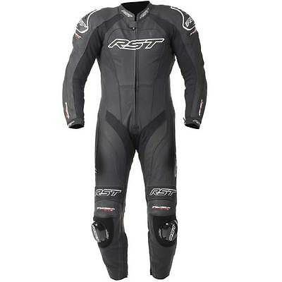 RST Tractech Evo II 2 Black Leather One 1 Piece Motorcycle Suit All Sizes