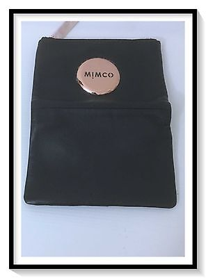 Mimco Leather MIM SMALL FOLD Wallet Clutch Purse BNWT RRP$149 Black