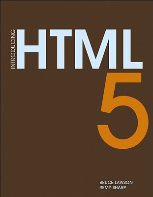 Introducing HTML 5 (Voices That Matter), Good Condition Book, Sharp, Remy, Lawso