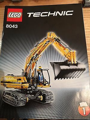 Lego Technic Excavator 8043 100% Complete with Instructions