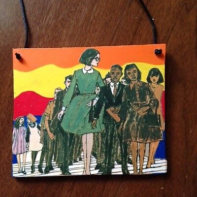mixed media painting working girl collage graffiti popart