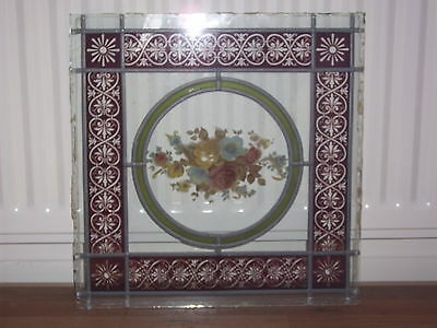 5 x Decorative Stained/Coloured Leaded Glass Panels
