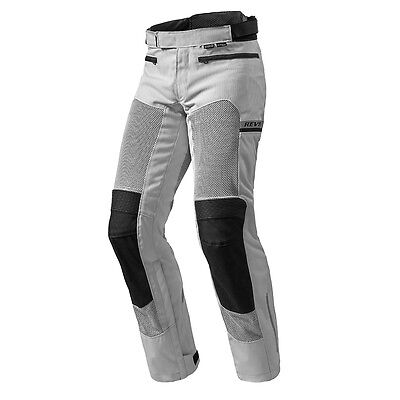 Rev'it! Tornado 2 Textile Air Motorcycle Pants Trousers Silver Rev it Revit