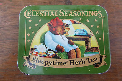 Vintage Celestial Seasonings Small Metal Tin Sleepytime Herb Tea Empty