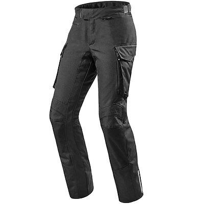 Rev'it! Outback Black Textile Touring Motorcycle Bike Pants Trousers Revit