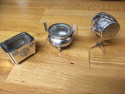 ANTIQUE / VINTAGE  Asahi JAPANESE 950 GRADE SILVER NOVELTY PEPPER POT And Others