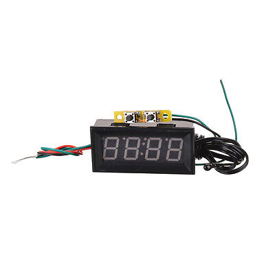 Functional Yellow LED Digital Car Clock Temperature Thermometer Voltage Display