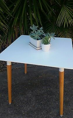 Cafe Restaurant small dining tables 8 available NEW boxed white top timber legs
