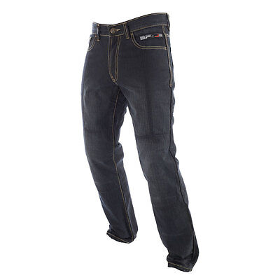 Oxford SPJ-2 Black Moto Motorcycle Motorbike Reinforced Denim Jeans All Sizes