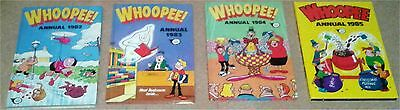 4 Vintage Whoopee Annuals 1982 - 1985