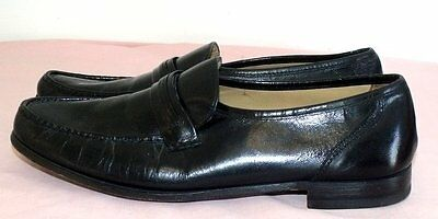 Men's Bostonian Hand Sewn Leather Black Loafers Shoes Sz 11.5M Made in USA