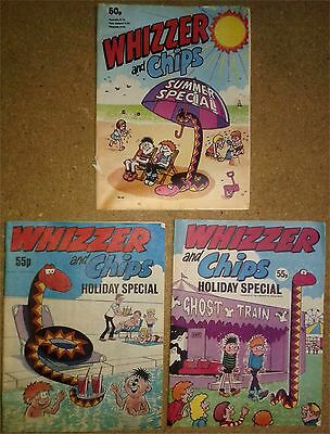 3 Vintage Whizzer & Chips Comics Holiday / Summer Special IPC Publishing