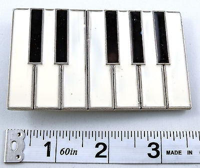 Piano Keyboard Organ Music Belt Buckle Unisex Black and White PUU