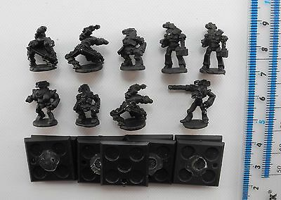 9 Epic 40K ROBOTS Metal Imperial Space Marines Robot Army 1980s PE1