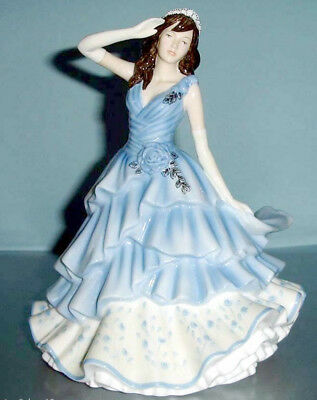 Royal Doulton Joanne Pretty Ladies Figurine HN5562 in Blue Dress New
