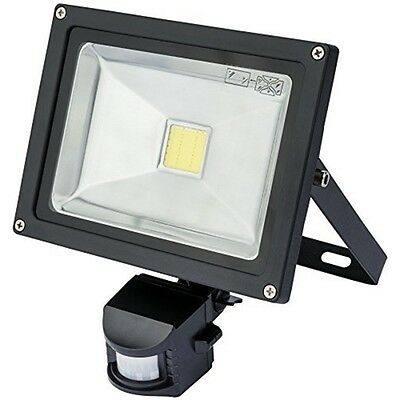 Wall Mount 20w Cob Lamp + Pir - Draper LED Flood Light Expert Infrared Mounted