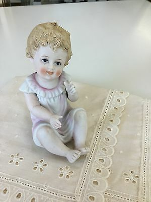 Piano Baby Bisque Figurine unmarked
