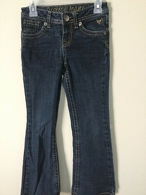 Girls Justice Denim Jeans, Size 7R