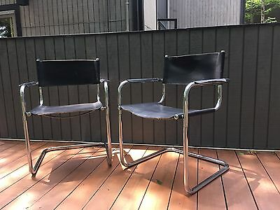 Pair of Vintage Mid-Century Modern Chrome Cantilever Arm Chairs after Mart Stam