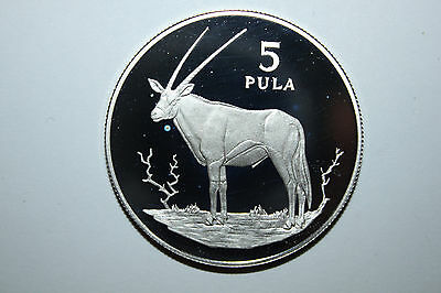 1978 Botswana 5 Pula Silver Proof Coin