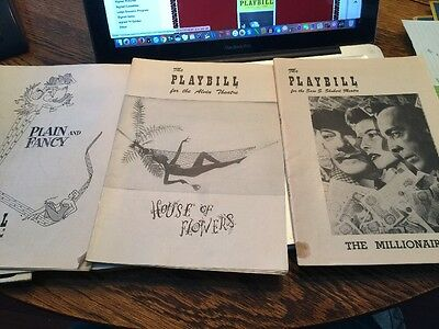 Lot Of  7 Playbill's And Misc Paperwork