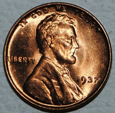 1937 P Lincoln Wheat Cent Penny 1c United States BU Uncirculated Gem