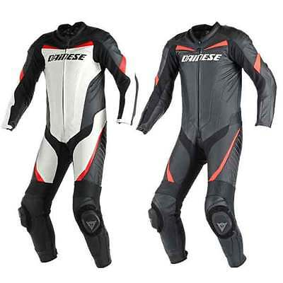 Dainese Racing 1pc Peforated Motorcycle Leather Suit All Colours & Sizes